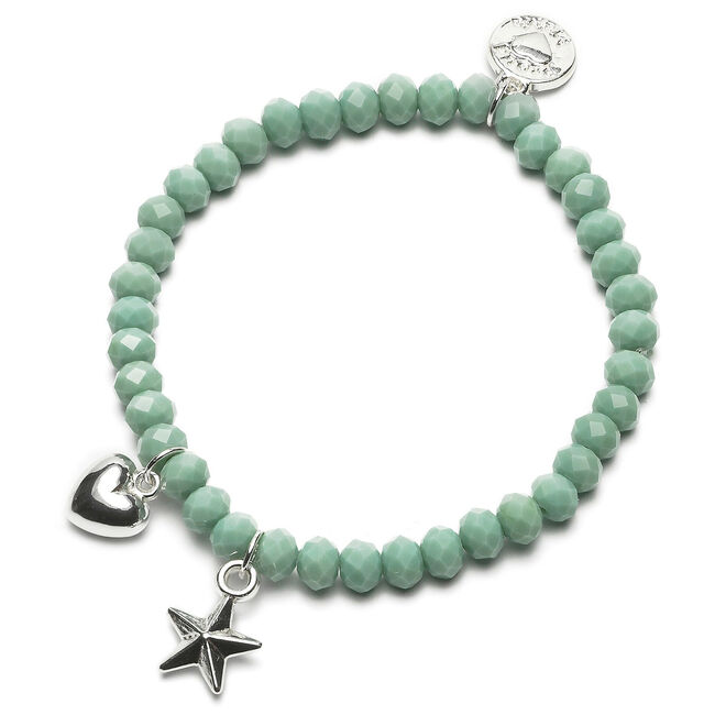 Proud MaMa armband ster hart beads - Light  Greenshade