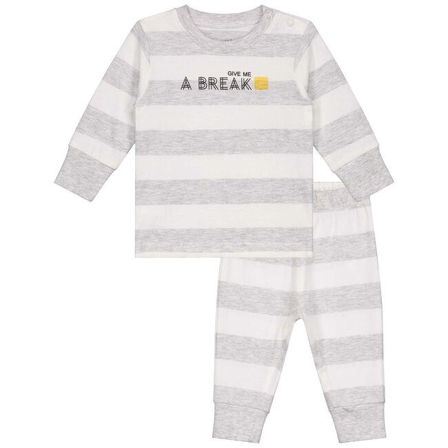 Prenatal baby jongens pyjama - White