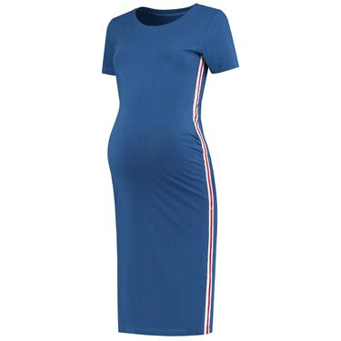 e1779ae7c48a97 snel bekijken · Prenatal zwangerschaps jurk - Kobaltblauw