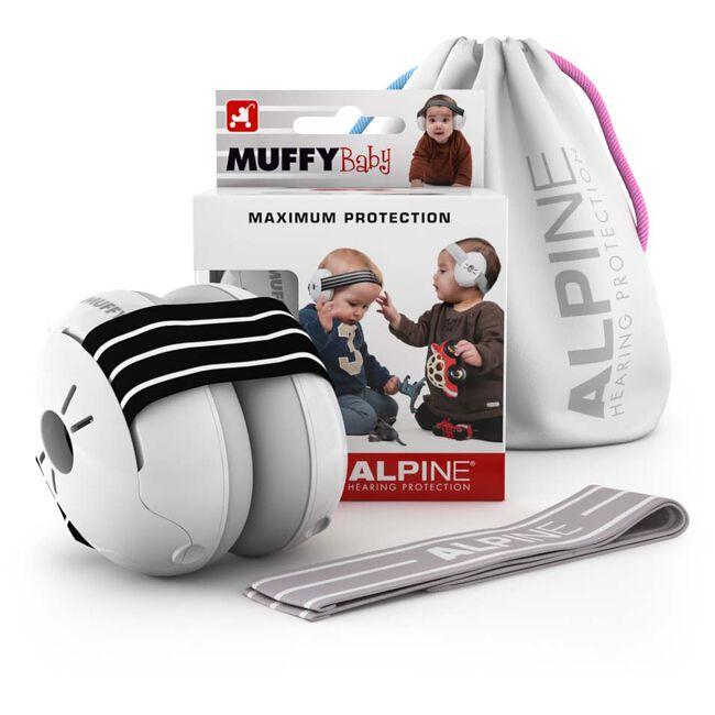 Alpine Muffy Baby gehoorbeschermers zwart/wit -
