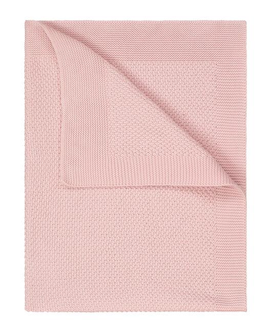 Prénatal ledikantdeken gebreid - Powder Pink