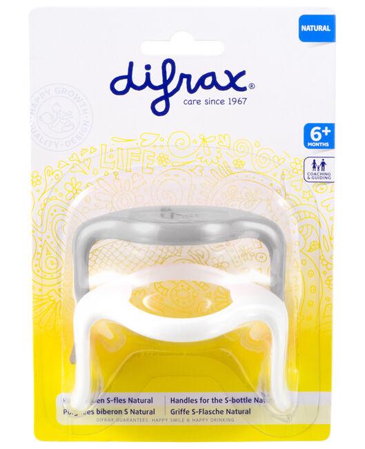 Difrax handvatten s-fles klein 2 stuk - Geen Kleurcode