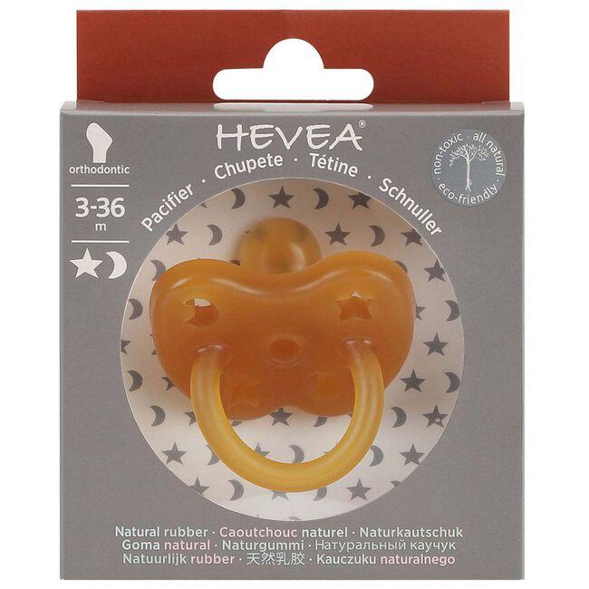 Hevea fopspeen Classic 3-36 maanden - orthodontisch 100% natuurlijk rubber -