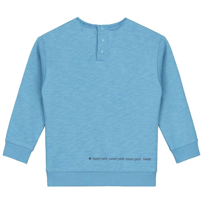 Sweet Petit baby jongens sweater Louk - Skyblue