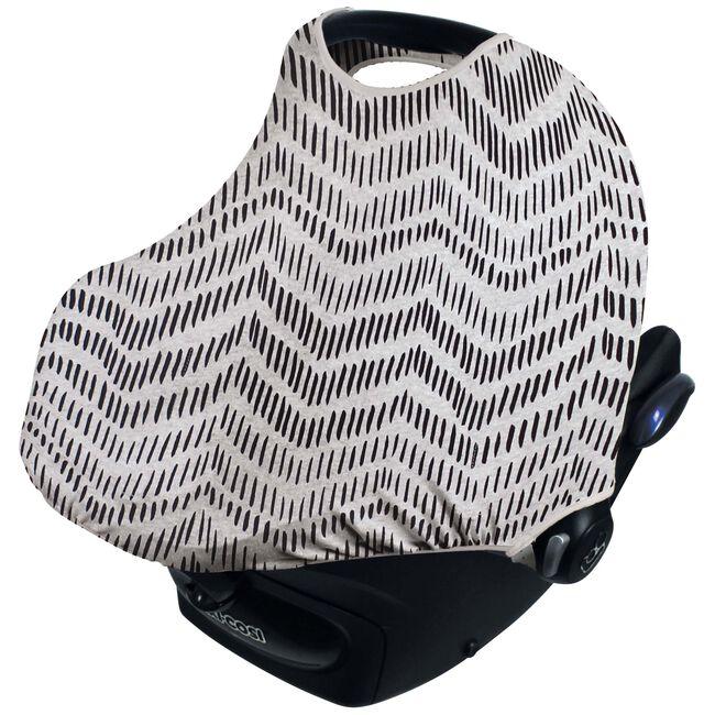 Dooky hoody zonnekap by Prenatal - Grijs Met Zwarte Zigzag