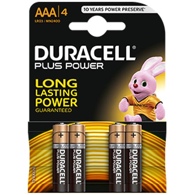 Duracell batterijen AAA 4-pack Alkaline - Black