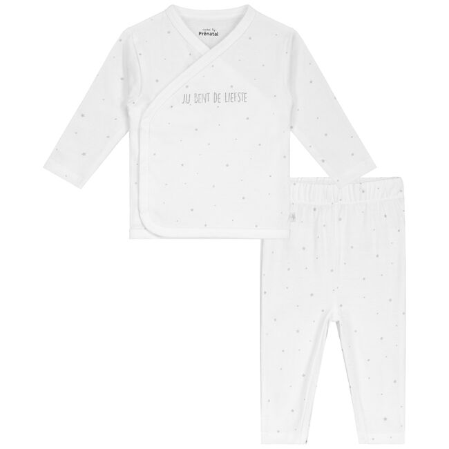 Prénatal baby unisex pyjama - White