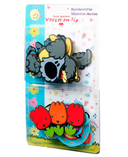 Foam Stickers Babykamer.Woezel Pip Muurdecoratie