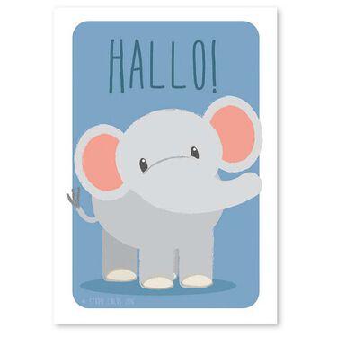 Studio Circus A4 poster olifant -