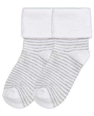 Prénatal peuter sokken 2 paar - Grey Melee Light