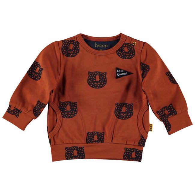 Bess baby jongens sweater - Darkorange