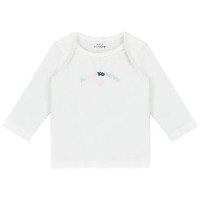 Prénatal newborn meisjes shirt - White