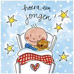 Blond Amsterdam wenskaart 'Hoera een jongen' -