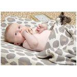 Meyco wiegdeken panterprint - Onbehandeld/Naturel
