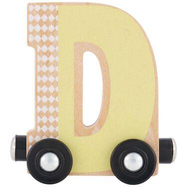 Prénatal houten namentrein letter D -