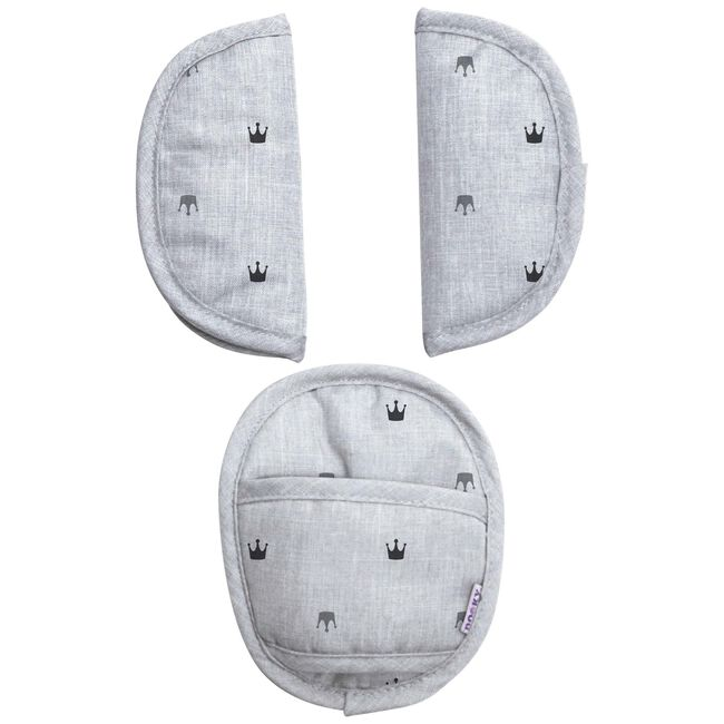 Dooky universele pads - Light Grey Crowns