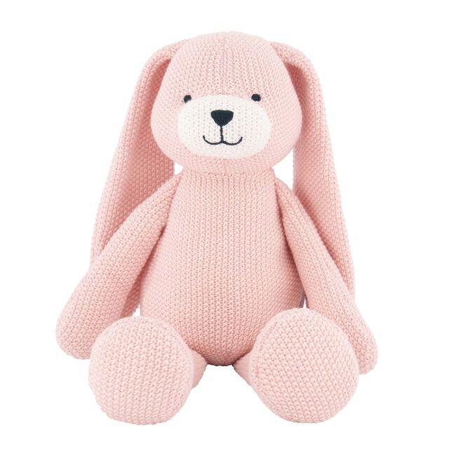 Prénatal knuffel konijn little knits - Skin Piink