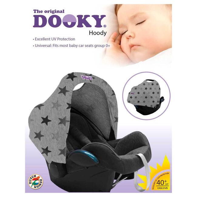 Dooky hoody zonnekap - Grey Stars