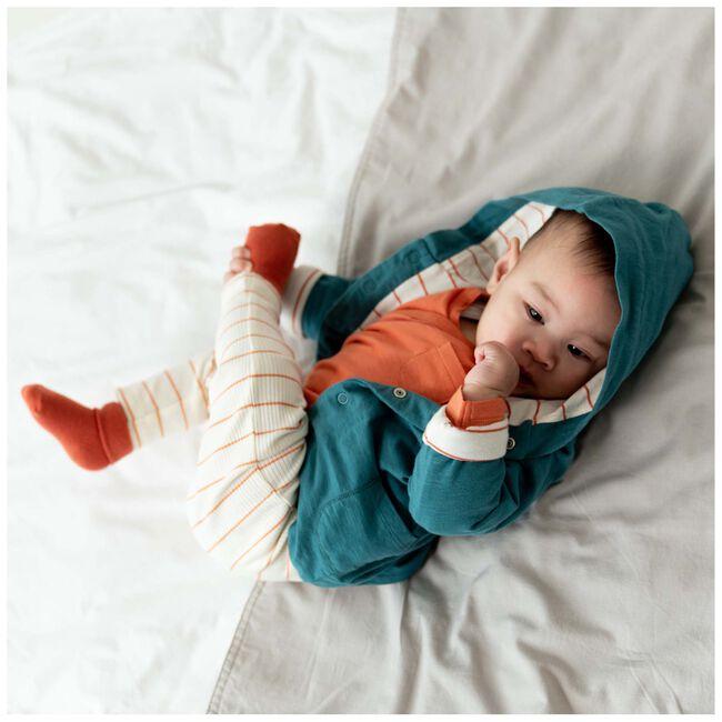 Prénatal newborn unisex rib broekje streep - Dark Off-White