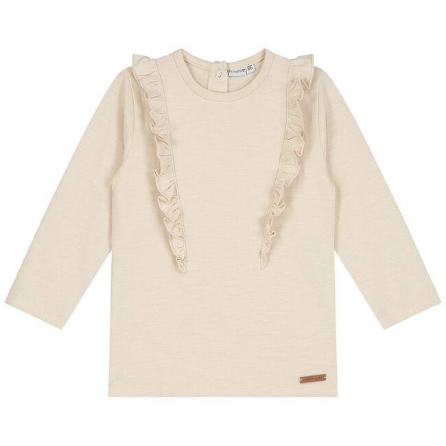 Prénatal baby meisjes T-shirt - Light Brown Melange