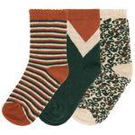 Prénatal meisjes sokken 3 stuks - Dark Orange Brown