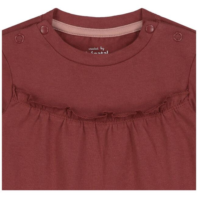 Prenatal newborn meisjes jurk - Darkred