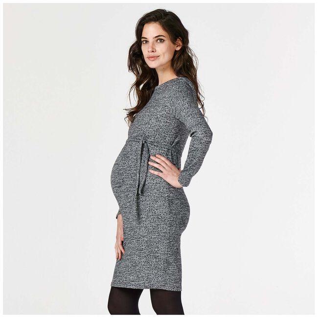 Supermom zwangerschapsjurk - Grey Melee Dark