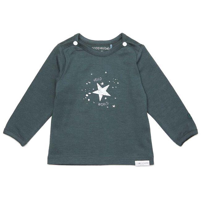 Noppies newborn unisex shirtje - Dark Greyshade