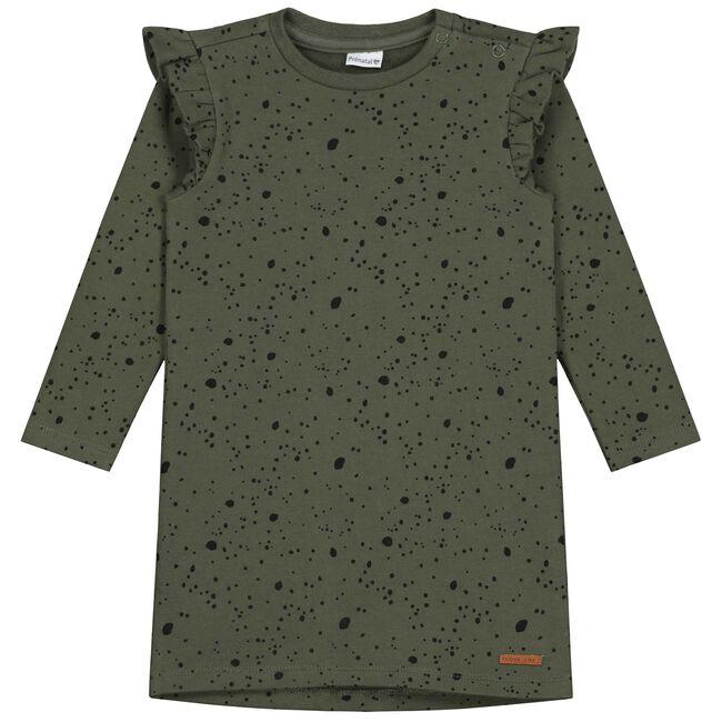 Prénatal baby meisjes jurk - Olivegreen