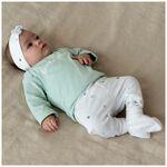 Prénatal newborn meisjes broekje Dotje - White