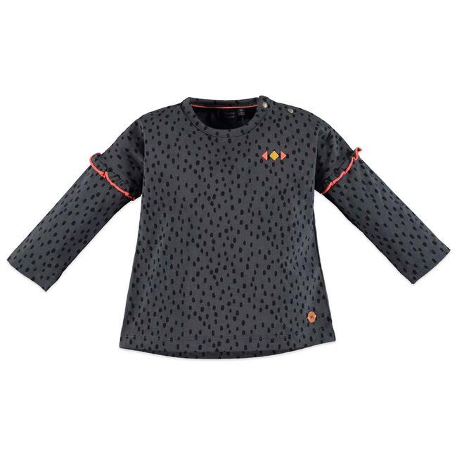 Babyface peuter meisjes T-shirt - Darkgrey
