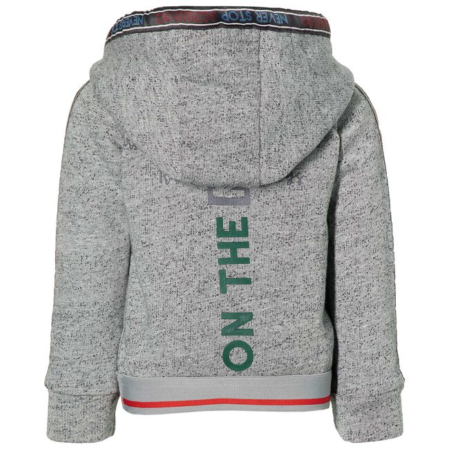 Quapi peuter jongens sweater - Grey Melee Dark