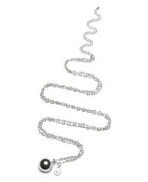 Proud MaMa Heartchain ketting verzilverd rond - Silver