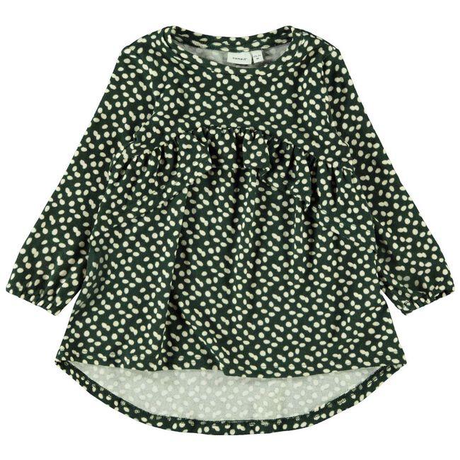 Name it peuter meisjes jurk - Darkgreen