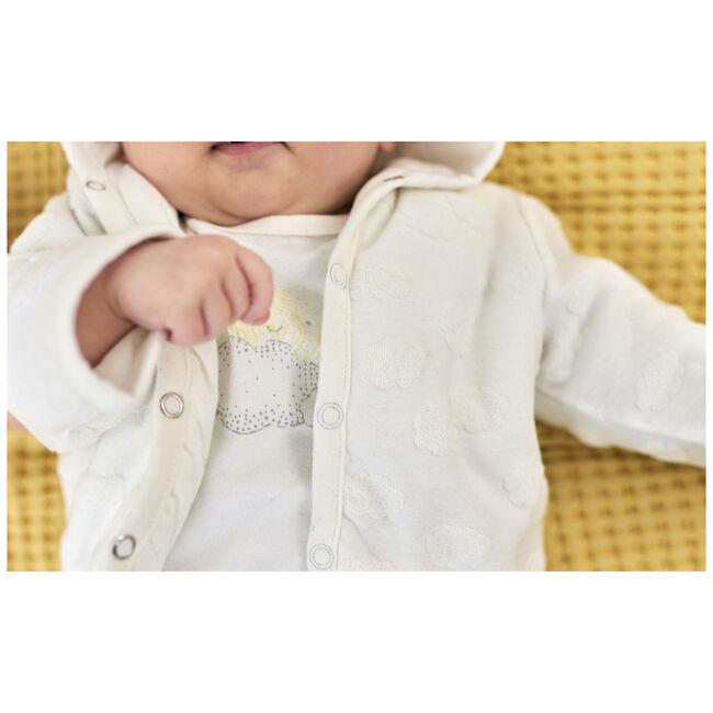 Prénatal newborn unisex gevoerde jas met capuchon - Onbehandeld/Naturel