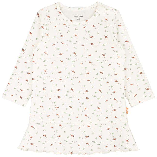 Prenatal peuter meisjes nachthemd - Ivoor Wit