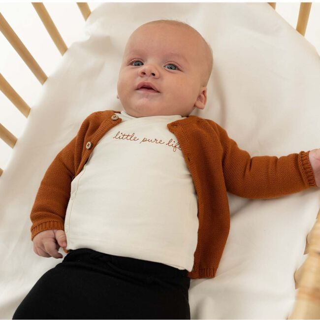 Prénatal newborn unisex vestje Pure - Sienna