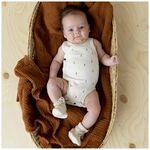 Prénatal newborn unisex overslag romper Pure - Sienna