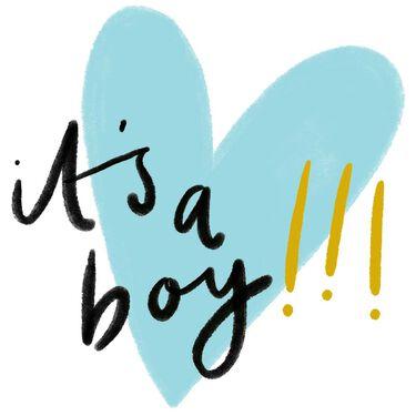 Caroline Gardner wenskaart It's a boy! -
