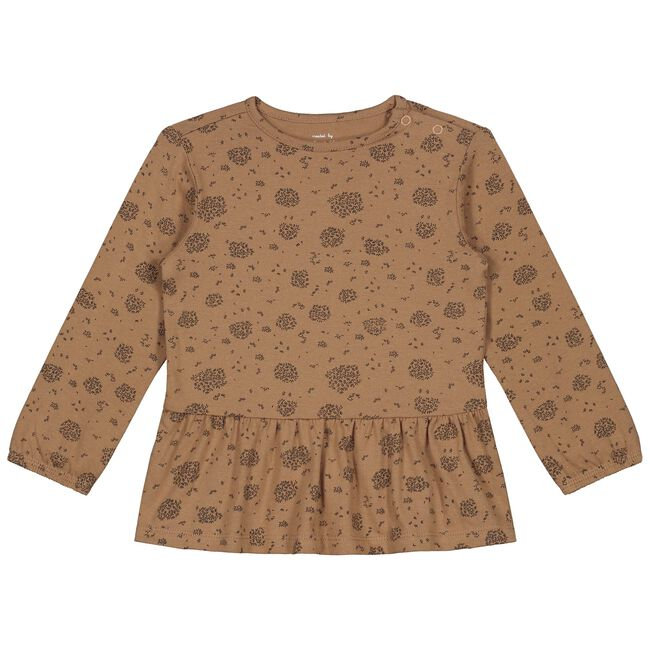 Prénatal baby meisjes T-shirt - Brown Shade