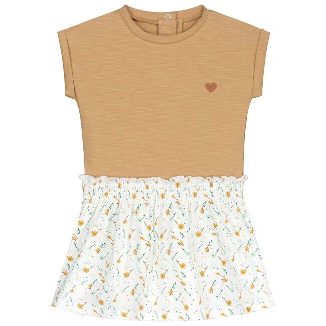 Prénatal baby meisjes jurk - Mid Brown Melange