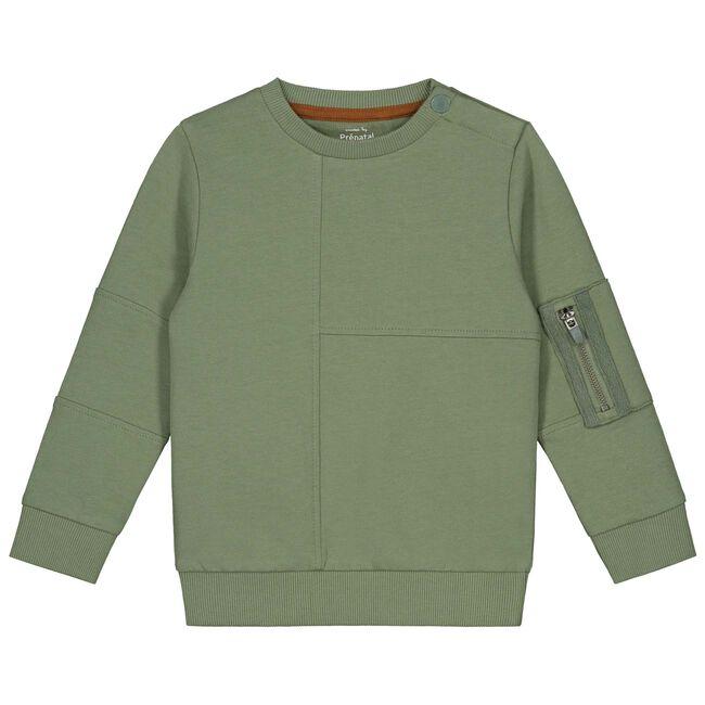 Prénatal peuter jongens sweater - Light Khaki Green
