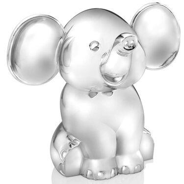 Zilverstad verzilverde spaarpot olifant -