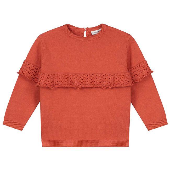 Prénatal baby meisjes trui - Brown Red