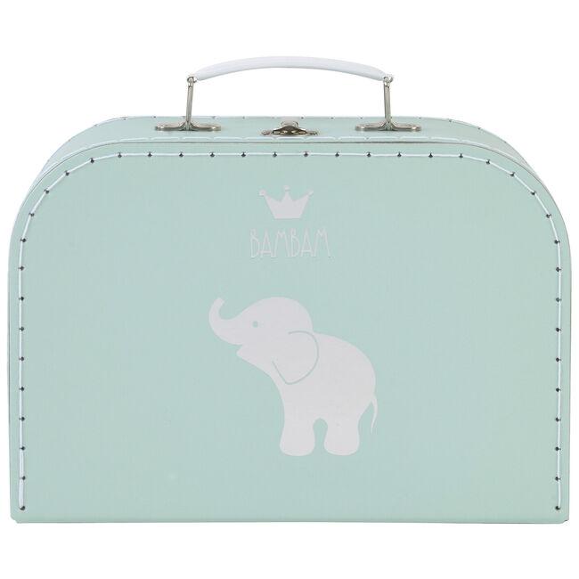 BamBam koffertje olifant large - Mintgreen