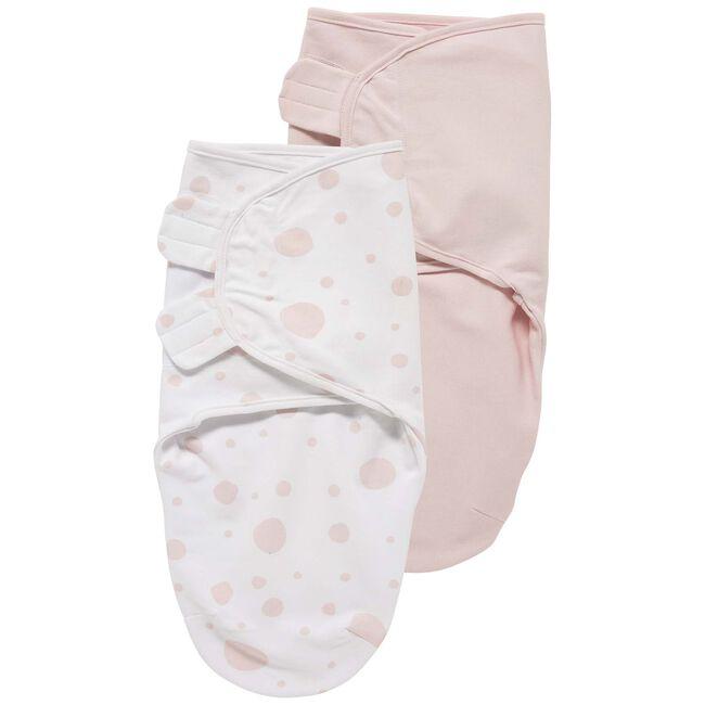 Meyco swaddle 2-pack roze 0-3 maanden - Pink
