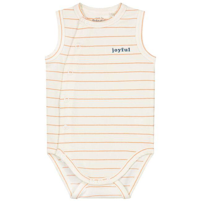 Prénatal newborn unisex overslag romper - Dark Off-White