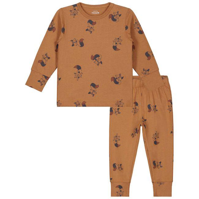 Prenatal jongens peuter pyjama - Almond
