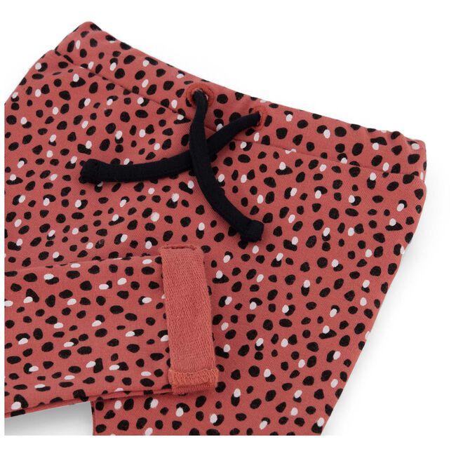 Prénatal baby meisjes broek - Dark Coral Red