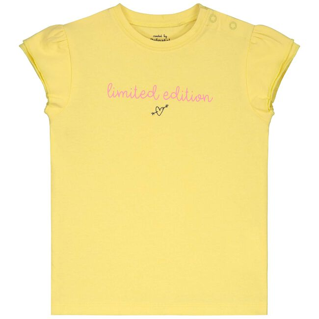 Prenatal peuter meisjes T-shirt - Light Lemon Yellow